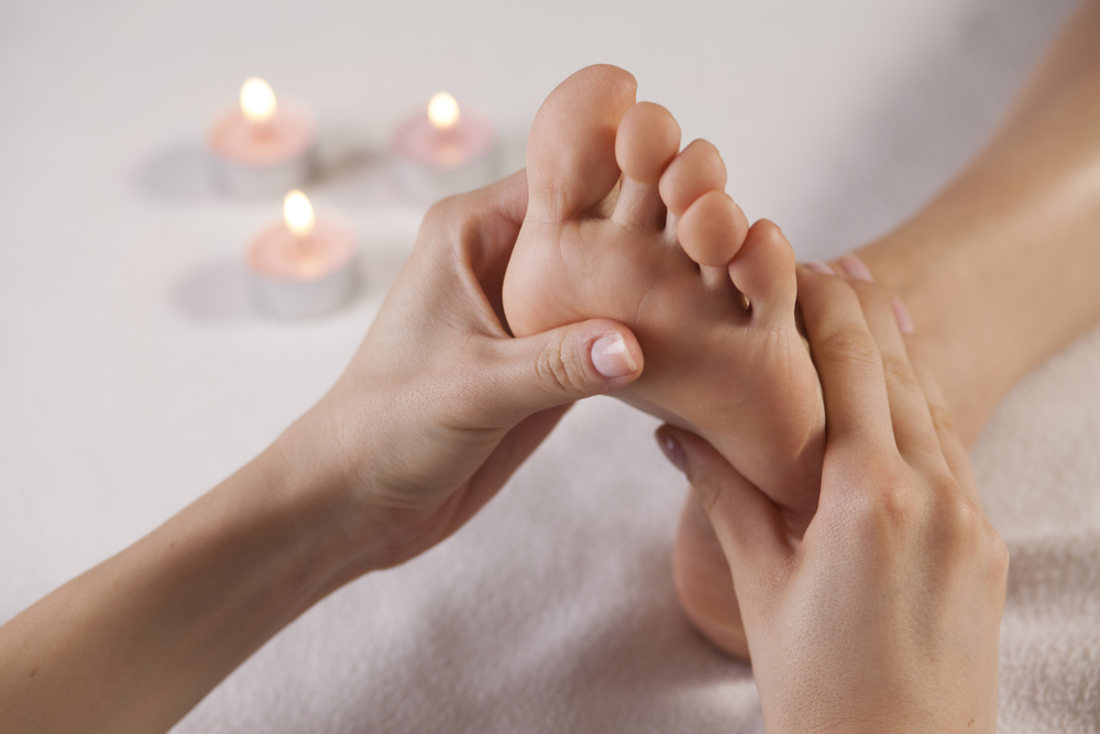 Massage door voetmove